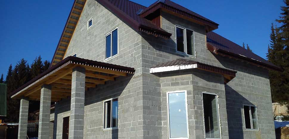 Дом для проживания из керамзитобетона форма для печатного бетона купить воронеж