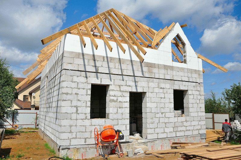 цена на строительство дома из пеноблоков